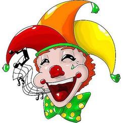 Muursticker clown SingingBellHad