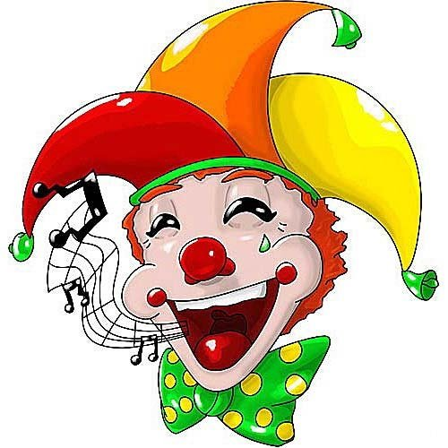 HSA Muursticker clown SingingBellHad