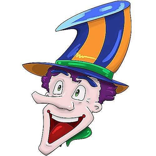 HSA Muursticker clown LongTopHad