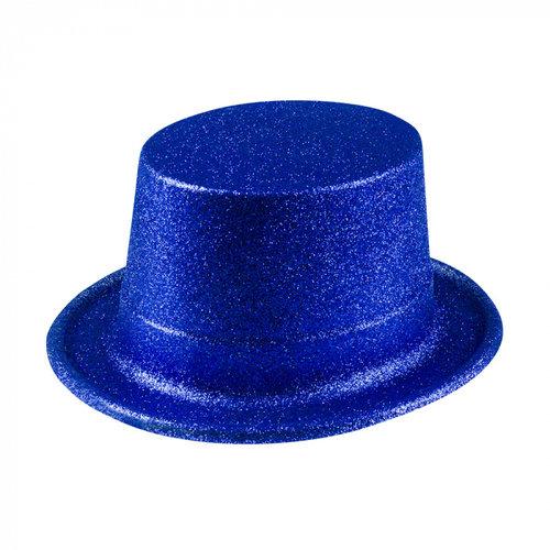 Boland BV Hoed glitter blauw