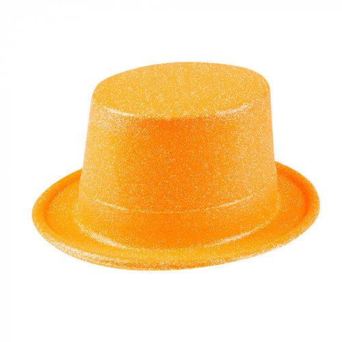Boland BV Hoed glitter neon oranje