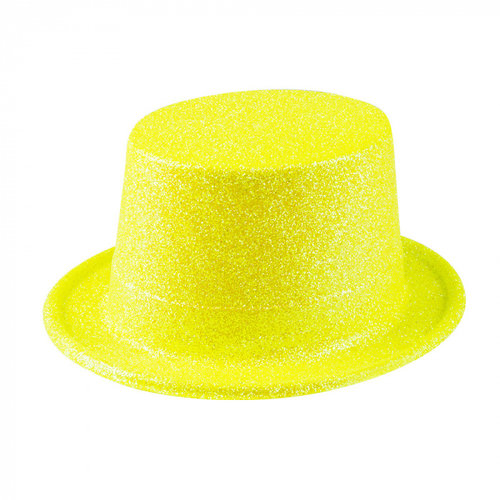 Boland BV Hoed glitter neon geel