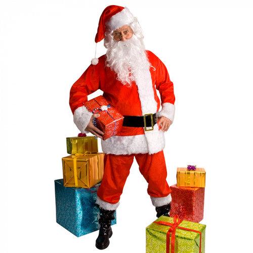 Kostuum kerstman luxe
