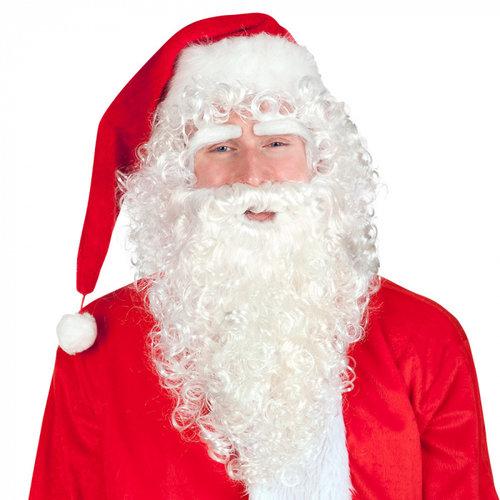 Kerstman pruik, wenkbrauwen en baard