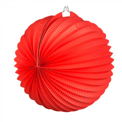 Bol lampion rood ø 23 cm