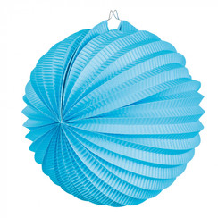 Bol lampion lichtblauw ø 23 cm