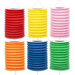 Treklampion uni kleuren Ø 16 cm set van 6 stuks