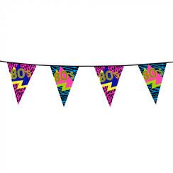 Vlaggenlijn 80's Party 6 m