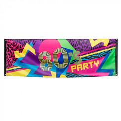 Banner 80's Party 74 x 220 cm