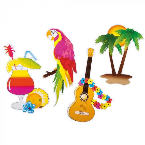 Boland BV Set 4 Hawaii decoraties