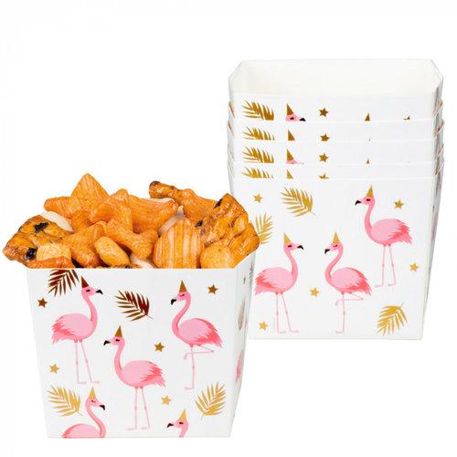 Boland BV Snackbakjes flamingo 6 stuks