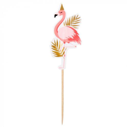 Boland BV Cocktailprikker flamingo 13 cm 12 stuks