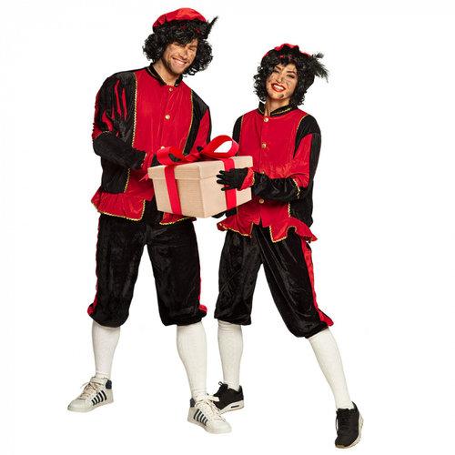 Kostuum Piet rood L