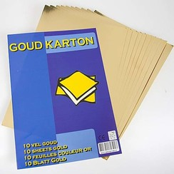 Hobbykarton goudkleurig