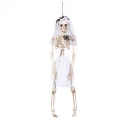 Hangdeco skelet bruid 40 cm
