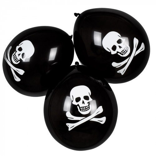 Piratenballon ø 25 cm 6 stuks