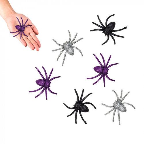 Boland BV Spinnen glitter 6 stuks