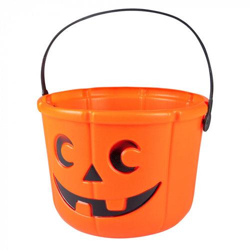 Boland BV Halloween pompoen emmer 14 x 18 cm