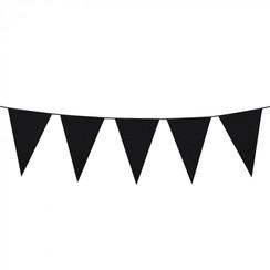 Vlaggenlijn zwart 10 m