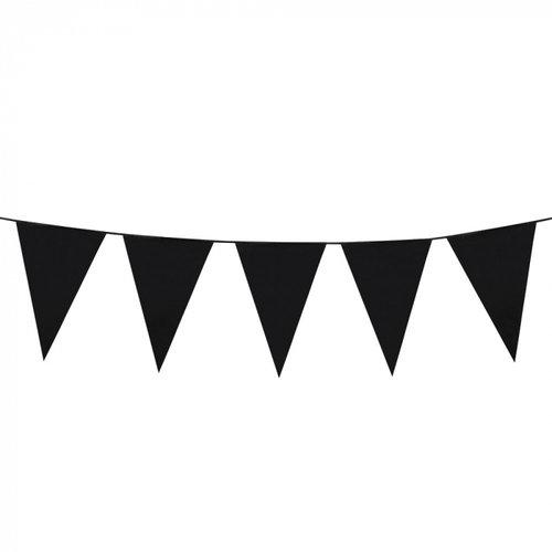 Boland BV Grote vlaggenlijn zwart 10 m