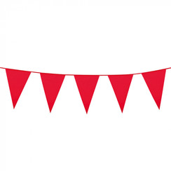 Grote vlaggenlijn rood 10 m