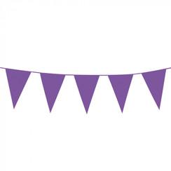 Grote vlaggenlijn paars 10 m