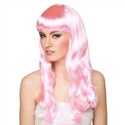 Pruik Chique roze