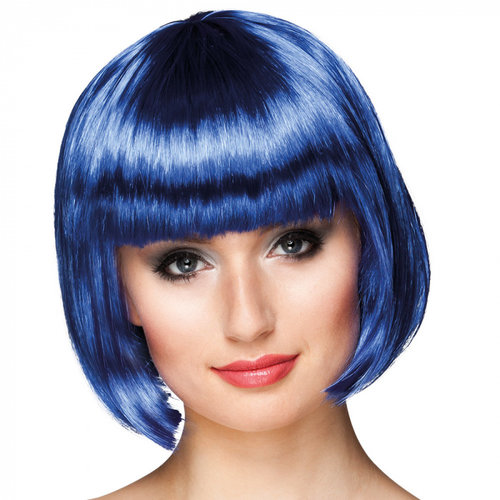 Boland BV Pruik Cabaret blauw