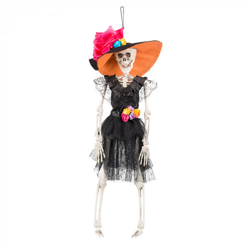 Boland BV Hangdeco skelet Mrs. Day of the Dead 40 cm