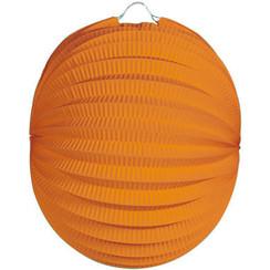 Bol lampion oranje ø 22 cm brandveilig