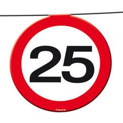 Slinger verkeersbord 25 12 m