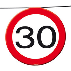 Slinger verkeersbord 30 12 m