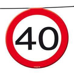 Slinger verkeersbord 40 12 m