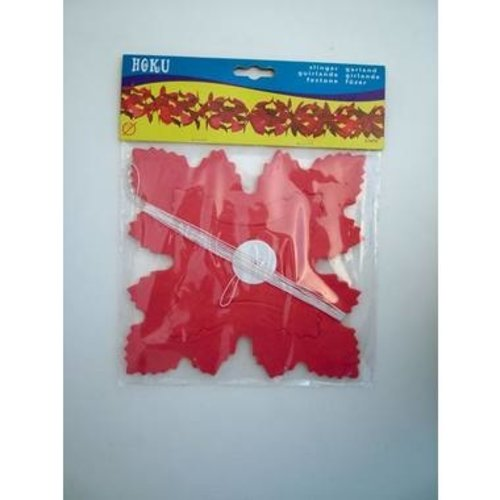 Boland BV Slinger Hoku papier rood 6 m brandveilig