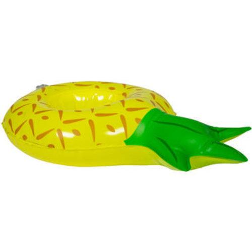 Folat Opblaasbare drinkhouder ananas 27 x 16 cm
