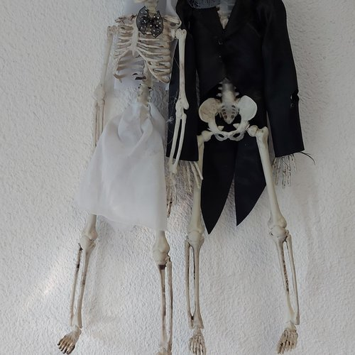 Bruidspaar skelet halloween