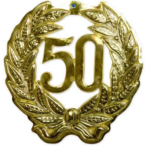 Folat Krans 50 jaar goud 44 cm