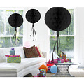 Decoratie bal zwart 30 cm