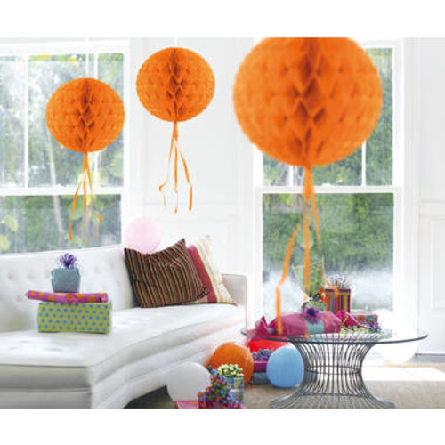 Decoratie bal oranje 30 cm