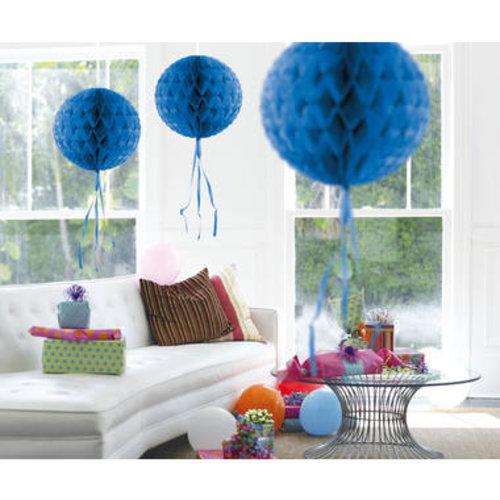 Decoratie bal blauw 30 cm
