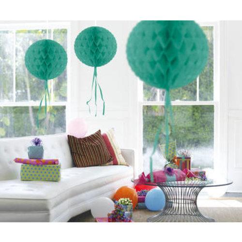 Decoratie bal turquoise 30 cm