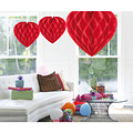 Folat Decoratie hart rood 30 cm