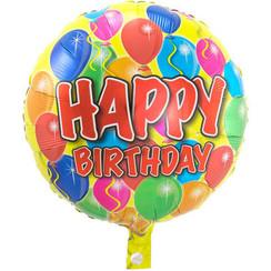 Folie ballon Happy Birthday 43 cm