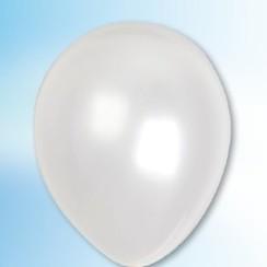 Ballon metallic wit ø 30 cm 25 stuks