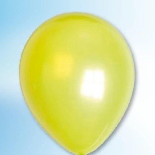 Globos Ballon metallic limoengroen ø 30 cm 25 stuks