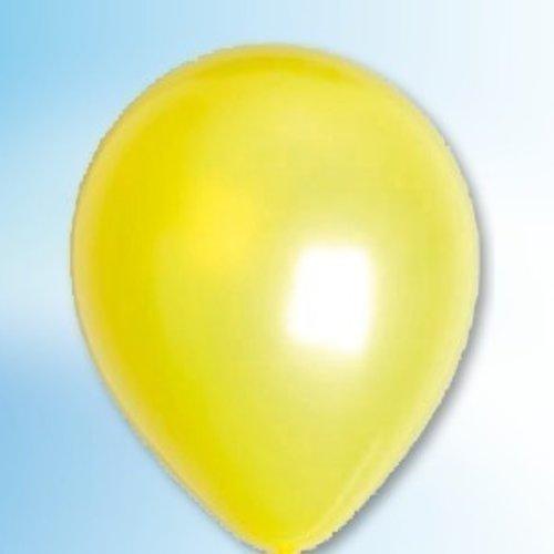 Globos Ballon metallic geel ø 30 cm 25 stuks