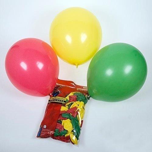 Globos Ballon rood-geel-groen ø 30 cm 25 stuks