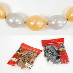 Doorknoopballon zilver metallic ø 30 cm 25 stuks