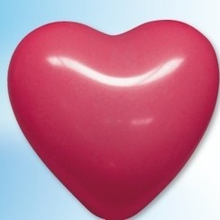 Hartjes ballon rood ø 35 cm 25 stuks