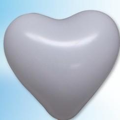 Hartjes ballon wit ø 35 cm 25 stuks